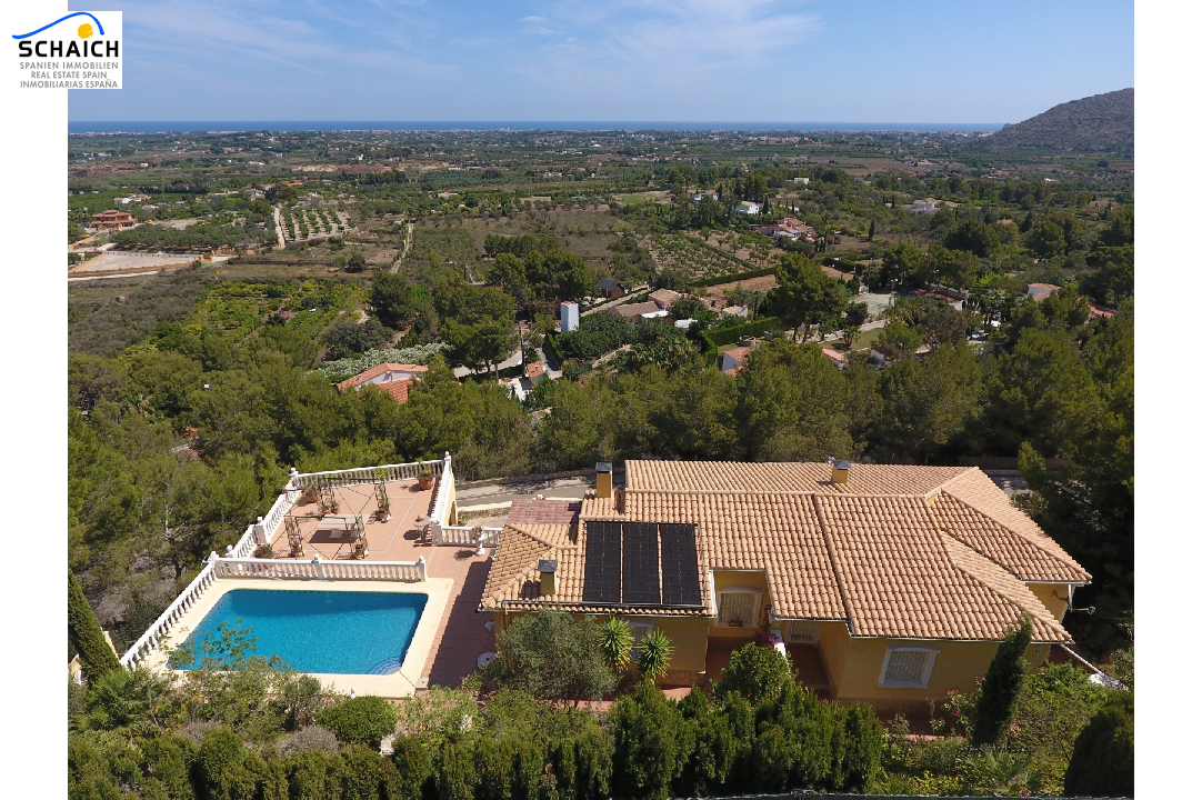 villa in La Sella(La Sella) for sale, built area 160 m², year built 1997, condition neat, + central heating plot area 1100 m², 4 bedroom, 3 bathroom, swimming-pool yes, ref.: AS-1217-21