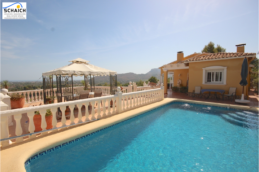 villa in La Sella(La Sella) for sale, built area 160 m², year built 1997, condition neat, + central heating plot area 1100 m², 4 bedroom, 3 bathroom, swimming-pool yes, ref.: AS-1217-5