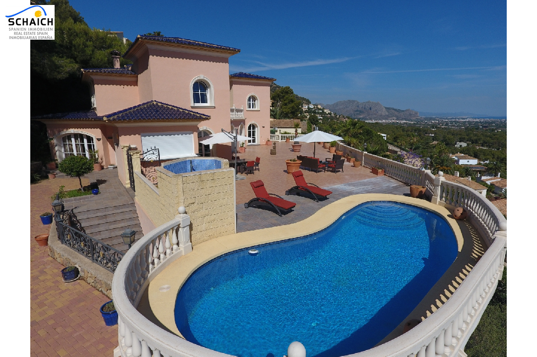villa in La Sella for sale, built area 425 m², year built 2006, condition mint, + underfloor heating air-condition yes, plot area 1300 m², 5 bedroom, 4 bathroom, swimming-pool yes, ref.: MJ-0618-2