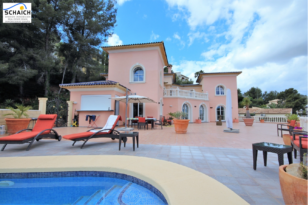 villa in La Sella for sale, built area 425 m², year built 2006, condition mint, + underfloor heating air-condition yes, plot area 1300 m², 5 bedroom, 4 bathroom, swimming-pool yes, ref.: MJ-0618-3