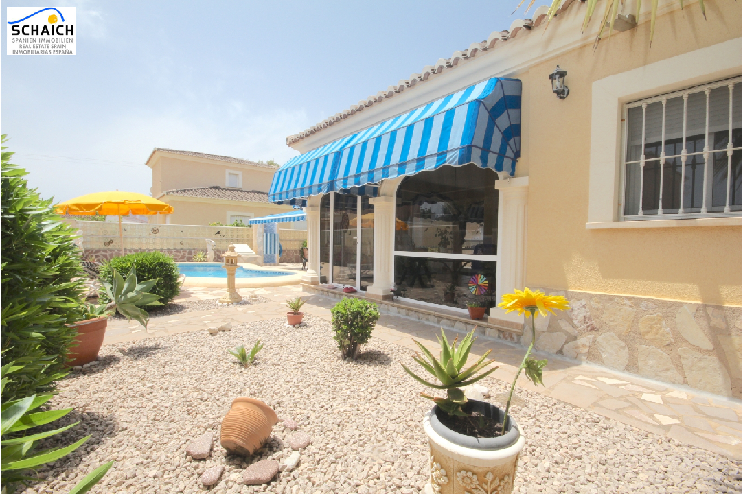 villa in Els Poblets(Sorts de la Mar ) for sale, built area 200 m², year built 2000, condition neat, + central heating air-condition yes, plot area 540 m², 3 bedroom, 2 bathroom, swimming-pool yes, ref.: AS-1518-4