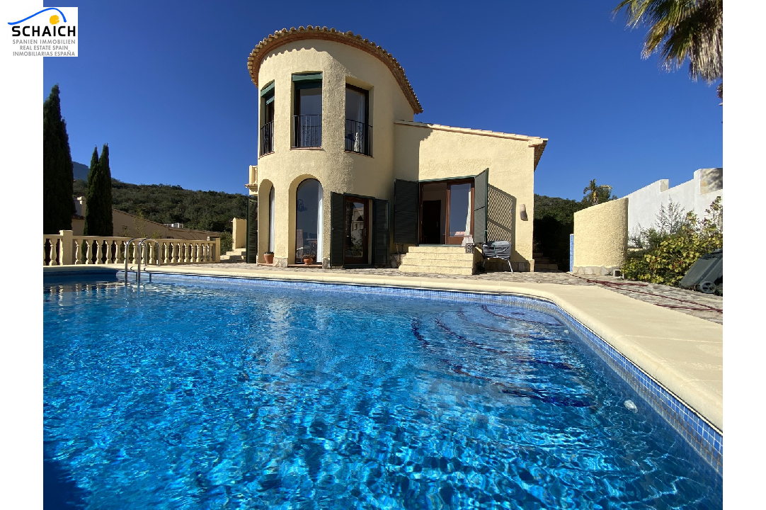 villa in Adsubia(Urbanizacion les Bassetes) for sale, built area 117 m², year built 2001, condition neat, + underfloor heating air-condition yes, plot area 593 m², 2 bedroom, 2 bathroom, swimming-pool yes, ref.: GC-4618-1