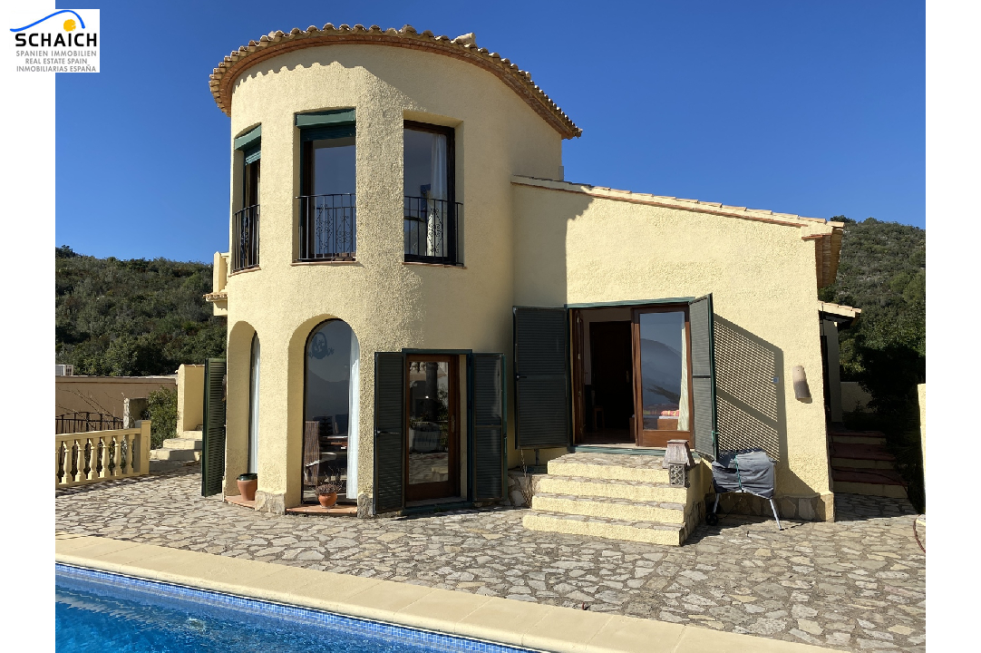 villa in Adsubia(Urbanizacion les Bassetes) for sale, built area 117 m², year built 2001, condition neat, + underfloor heating air-condition yes, plot area 593 m², 2 bedroom, 2 bathroom, swimming-pool yes, ref.: GC-4618-22