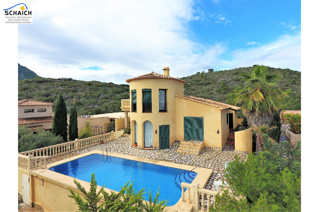 villa in Adsubia(Urbanizacion les Bassetes) for sale, built area 117 m², year built 2001, condition neat, + underfloor heating air-condition yes, plot area 593 m², 2 bedroom, 2 bathroom, swimming-pool yes, ref.: GC-4618-28